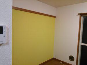 世田谷区 黄色のアクセントクロス