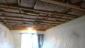天井を剥がしました。